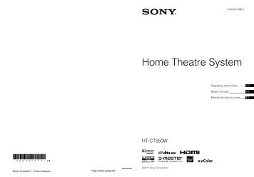 Home Theatre System - Sony