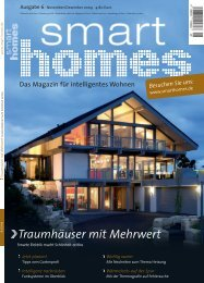 Leseprobe smart home Ausgabe 06 / 2009 - controLED