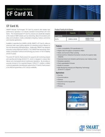 CF Card XL Product Overview - Smart Modular Technologies, Inc.