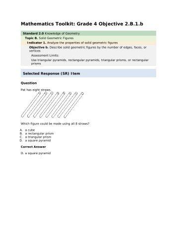 Mathematics grade 4 2.B.1.b - mdk12