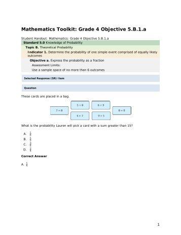 Mathematics grade 4 5.B.1.a - mdk12
