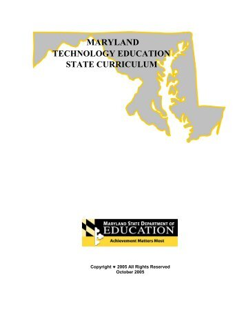 maryland technology education state curriculum - mdk12