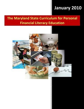 The Maryland State Curriculum for Personal Financial ... - mdk12