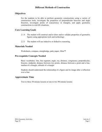 MSDE Geometry Activity: - mdk12