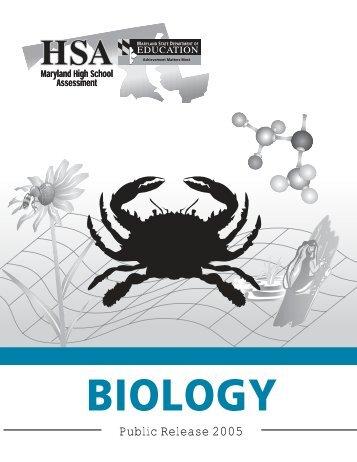 HSA Biology Public Release 2005 - mdk12