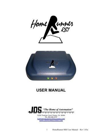 HomeRunner RBI User Manual - Smarthome