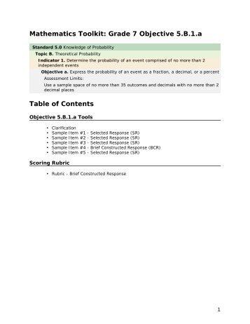 Mathematics grade 7 5.B.1.a - mdk12