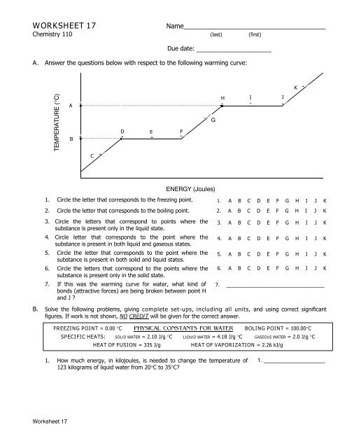 WORKSHEET 17 - Ccchemistry us