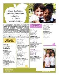 Dates des Portes Ouvertes des écoles primaires 2012-2013 www ...