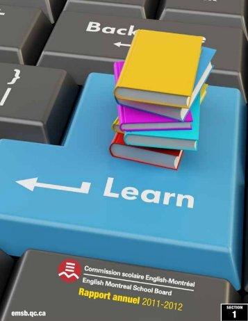 Rapport annuel 2011-2012 1 - English Montreal School Board