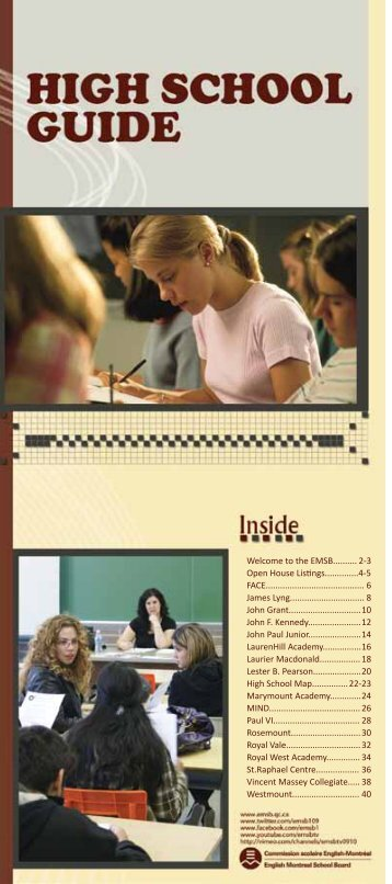 High School (PDF) - English Montreal School Board
