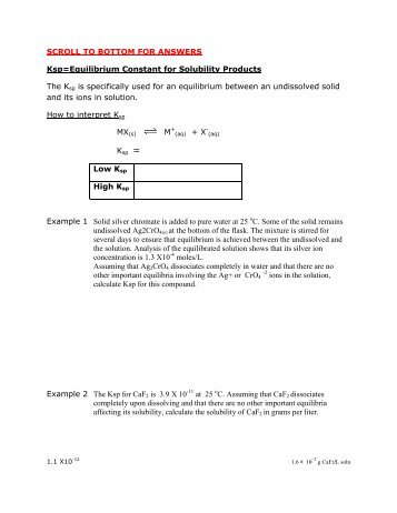 ksp the solubility product constant. Black Bedroom Furniture Sets. Home Design Ideas