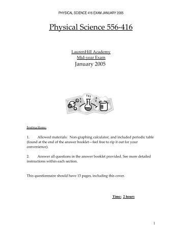 LHA Jan 05 416 exam