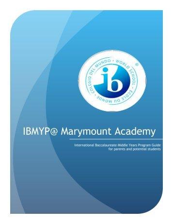 IBMYP Booklet - English Montreal School Board