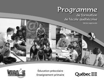 Programme de formation de l'école québécoise - Version approuvée