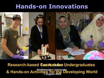 Hands-on Innovations - NCLT