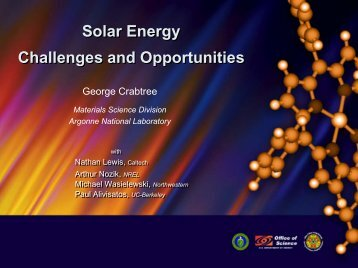 Solar Energy Challenges and Opportunities