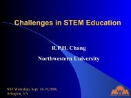 Challenges in STEM Education - Materials World Modules