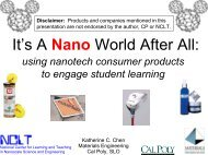 It's A Nano World After All: - Materials Research Science and ...