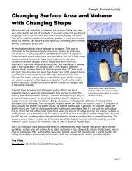 Changing Surface Area and Volume with Changing Shape - NCLT