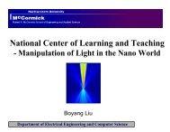 Manipulation of Light in the Nano World - NCLT