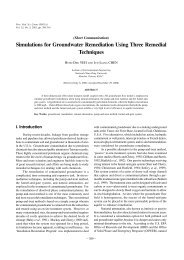 Simulations for Groundwater Remediation Using Three Remedial ...