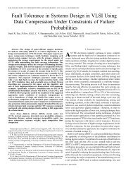 Fault tolerance in systems design in VLSI using data compression ...