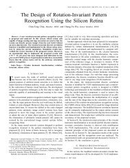 The design of rotation-invariant pattern recognition using the silicon ...