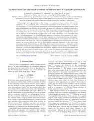 Cyclotron masses and g-factors of hybridized electron-hole states in ...