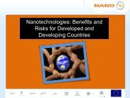 Benefits and Risks for Developed and Developing ... - Nanoyou