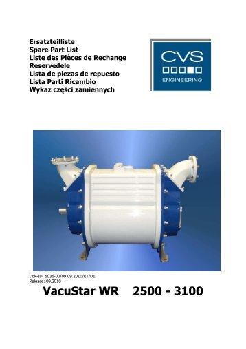 Ersatzteilliste Vacustar WR 2500 3100 - CVS Engineering ...