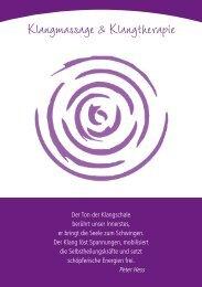 Klangmassage & Klangtherapie - ergo praxis elke post