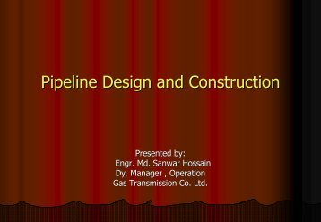 Pipeline Design and Construction
