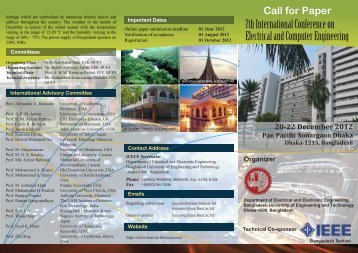 Flyer - Bangladesh University of Engineering and Technology