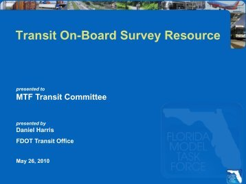 Transit On-Board Survey Resource by Daniel Harris - FSUTMSOnline