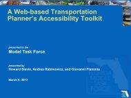 A Web Based Transportation Planner's ... - FSUTMSOnline