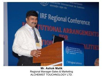 (iv) Greenhouse Gas Calculator, Alchemist ... - IRF India chapter