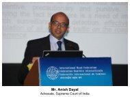 Mr. Anish Dayal - IRF India chapter