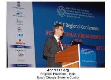 Andreas Berg - IRF India chapter