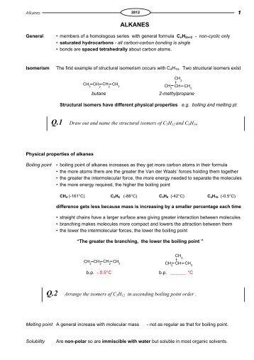 Worksheets Naming Alkanes