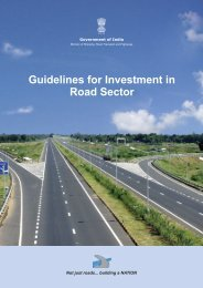 Guidelines for Investment in Road Sector - National Highways ...