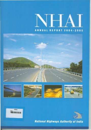 NHAI Annual Report of 2004-2005 - National Highways Authority of ...