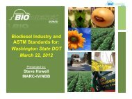 Biodiesel Industry and ASTM Standards for: Washington State DOT ...