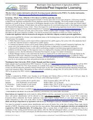 Pesticide/Pest Inspector Licensing - Washington State Department ...