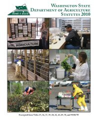 WSDA Statutes - Washington State Department of Agriculture