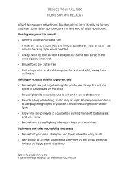 Home Safety Checklist - Changi General Hospital
