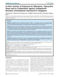 Resistant Acinetobacter baumannii in Singapore - Changi General ...