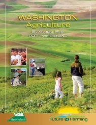 Washington Agriculture - Strategic Plan 2020 and Beyond