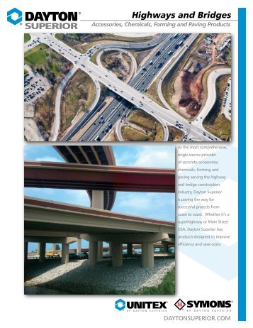 Dayton Superior Highways and Bridges Brochure