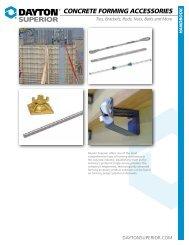 Dayton Superior Concrete Forming Accessories Handbook
